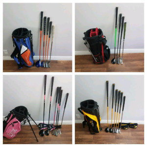 Multiple Jr Golf sets. Various ages, boys and girls