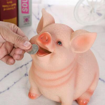 Cartoon Piggy Bank Money Coin Saving Box Pig Shaped Saving Pot for Children Kids