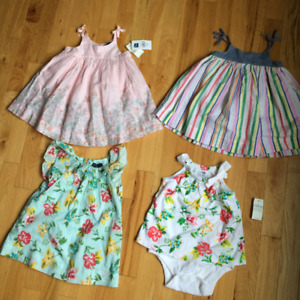 Baby girl dresses and rompers 6-12 months