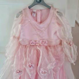 Pink Rose Petal Dress. Age 9-10 years.
