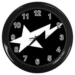 Bape STA Wall Clock (Black) Round Large 10 for Home Business shop Bar Gift NEW