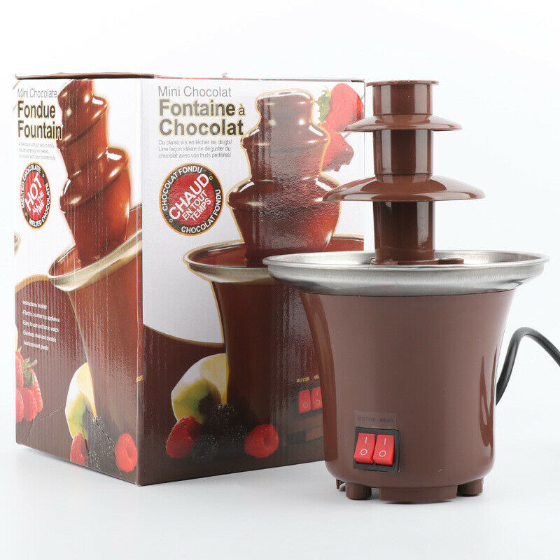 Chocolate Fountain Machine Fondue Home Party Large Set Stain