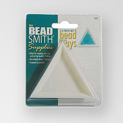 BEADSMITH 3 Piece Set of Plastic Bead Trays (AT7)