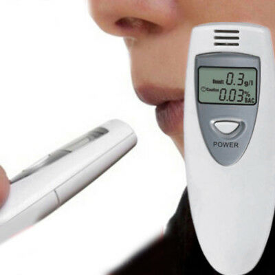 0.01% Digital LCD Police Breathalyzer Breath Alcohol Tester Analyzer Detector