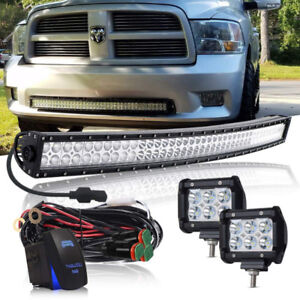 42 inch Curved LED Light Bar+ Fog Lights+ Switch+ Wiring Harness
