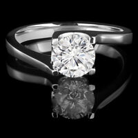 Diamond Engagement Ring 1.10CT Bague de Fiançailles Solitaire
