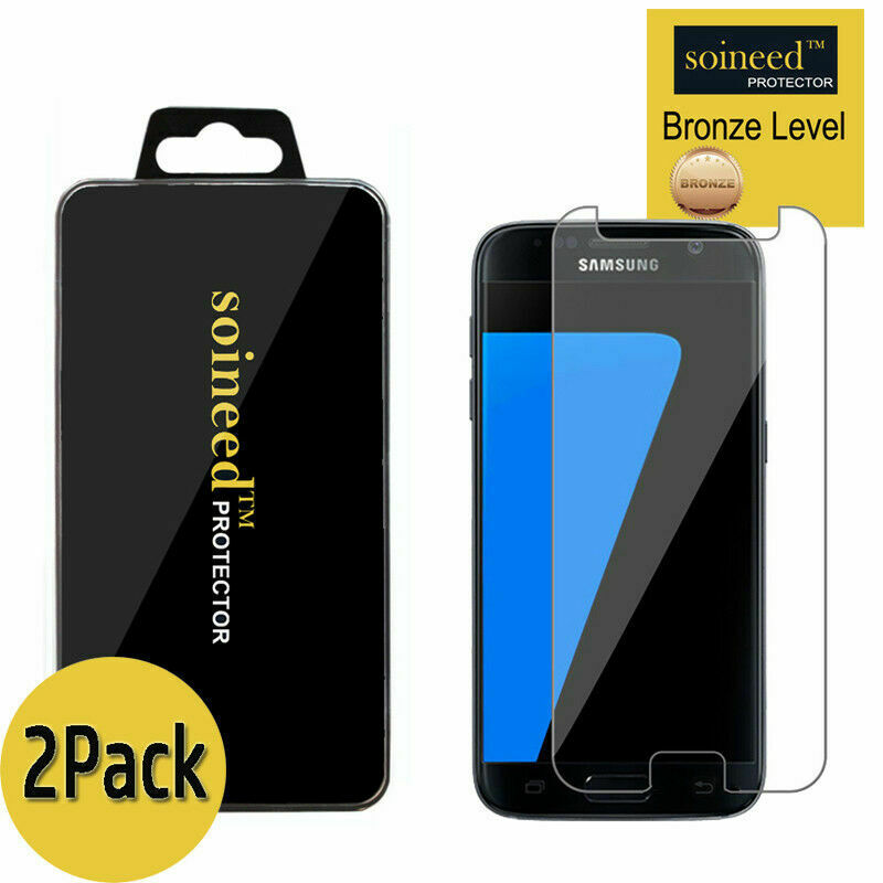 2-Pack Tempered Glass Screen Protector Film 2.5D for Samsung