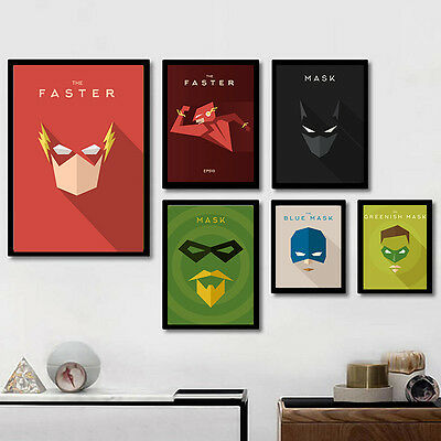 Superhero Characters Anime Canvas Poster Nordic Art Painting Modern Home - Superhero Characters