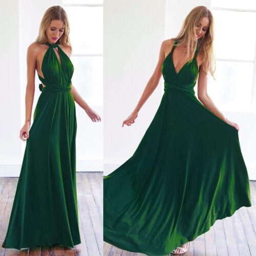 Women's Evening Dress Convertible Multi Way Wrap Bridesmaid Formal Long Dresses