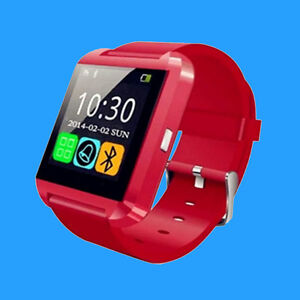 Red Smartwatch iPhone Bluetooth Android IOS New Smart Watch