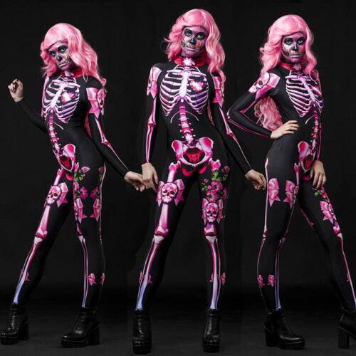 Frauen / Kinder Halloween Overall Kostüm Cosplay Kostüm Partykleid Skelett Body