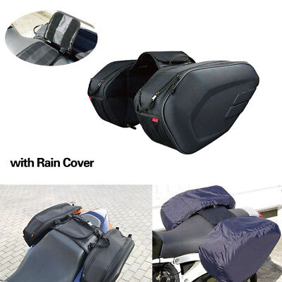Universal fit Motorcycle Pannier Bags Luggage Saddle Bags with Rain Cover 36-58L for sale  China