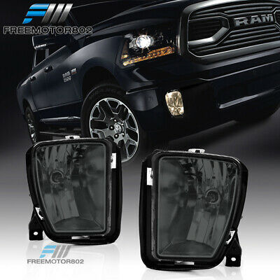 Fits 13-18 Dodge Ram 1500 Factory Smoke Fog Lights Lamp W/Bulbs LH RH Pair