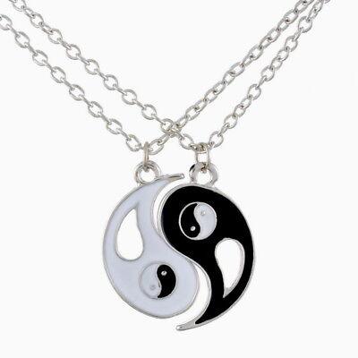 Yin Yang Partner-Freundschaftsketten Anhänger für Damen Herren Ying Yang NEU A10 (Freundschaft Halskette Ying Yang)
