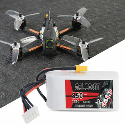 GOLDBAT 14.8V 850mAh 4S 75C LiPo Battery XT30 Plug For RC FPV Racing Drone Quad