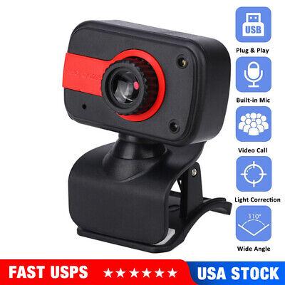Upgrade 2.0 HD Webcam PC Digital USB Camera Video Recording with Microphone USA