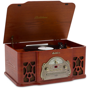 Turntable Vinyl record player and album