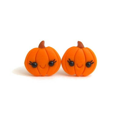 Handmade Halloween Cute Funny Gifts For Kids Pumpkin Costume Earrings Jewelry