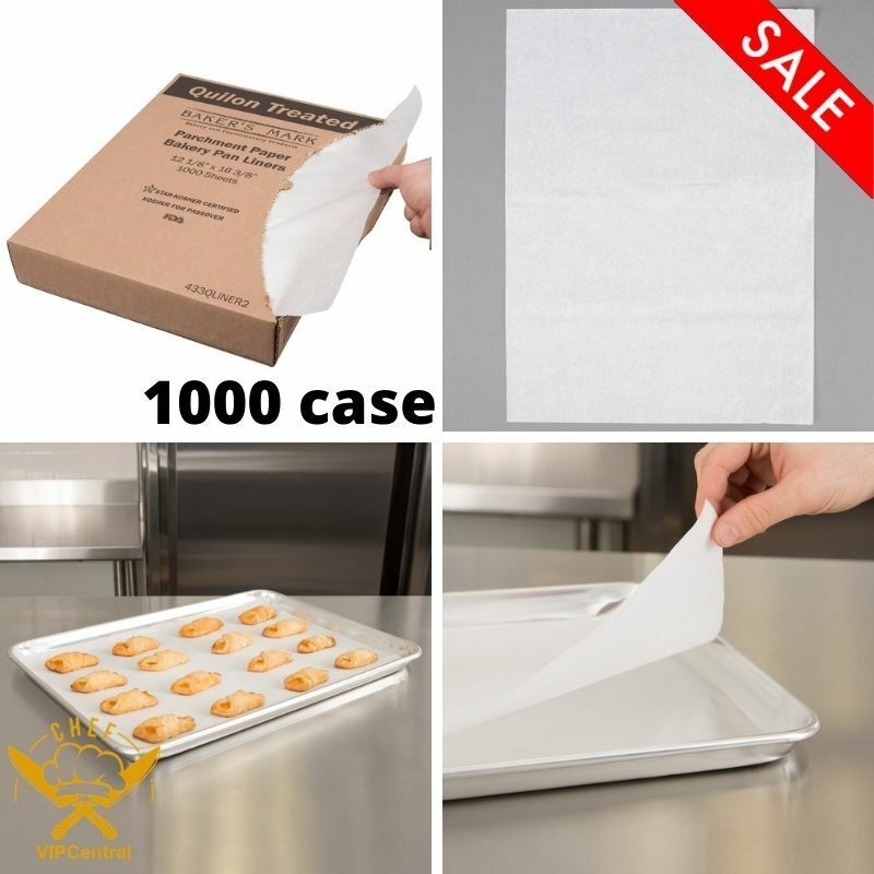 1000 Case 12  x 16 In. Half Size Quilon Coated Parchment Sheet Pan Liner Sheet