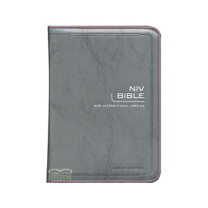 NIV Bible English Leather Cover With Zipper Compact Size Old & New Testament