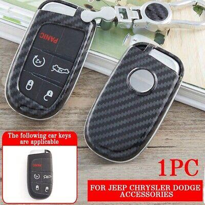 - Smart Key Case Holder Shell For Jeep Chrysler Dodge Accessories Carbon Fiber