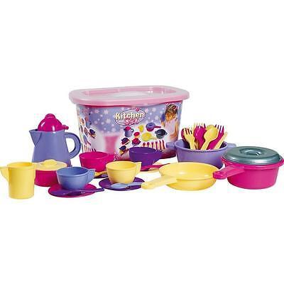 32tlg. Kindergeschirr Kinder Service für Spielküche Puppengeschirr Kaffeeservice