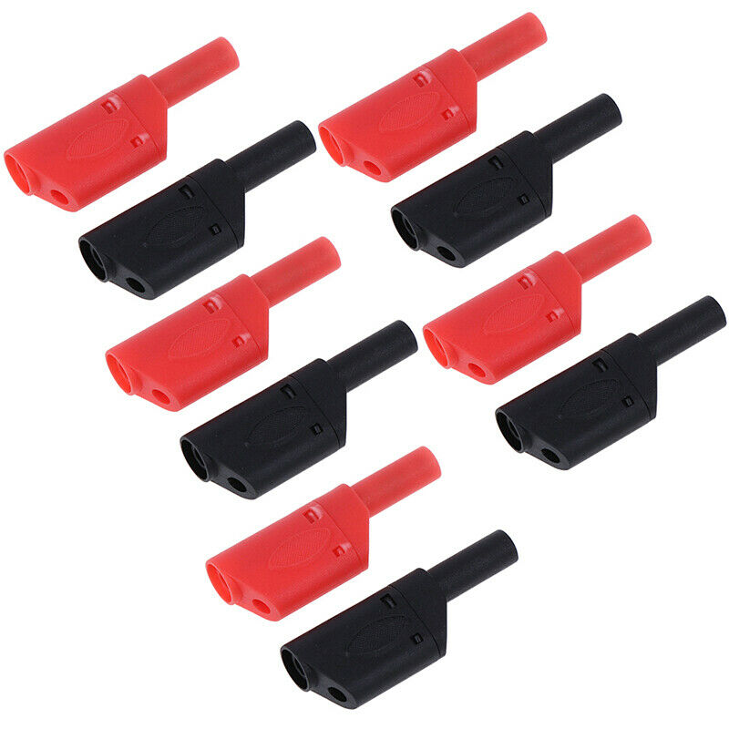 10Pcs Safety Male Stackable Banana Shrouded Insula