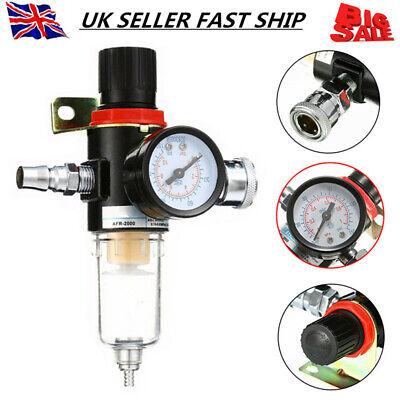 Air Pressure Regulator Oil Water Separator Filter Airbrush Compressor Gauge Tool