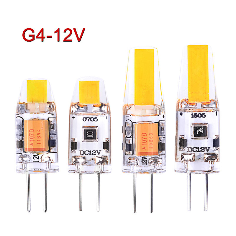 1pc Mini G4 Led Cob Lamp 6w Bulb Ac Dc 12v Candle Silicone Lights Replace Halogen For Chandelier Spotlight Light Bulbs