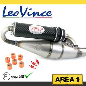 Sport Auspuff Aprilia SR 50 R, Racing, Street (Piaggio Mot.), Leovince TT Carbon
