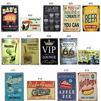 Plaque Home Decor (Metal Tin Sign Plaque Bar Pub Vintage Retro Wall Decor Poster Home Club Tavern )