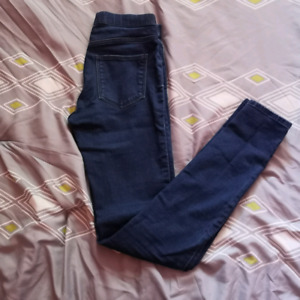 H&M High Waisted Blue Skinny Jeans