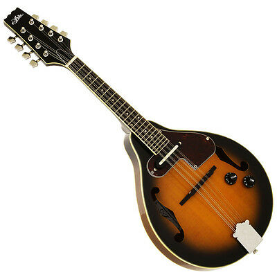 "NEW ARIA AM-20E BROWN SUNBURST ""A"" STYLE ACOUSTIC ELECTRIC MANDOLIN"