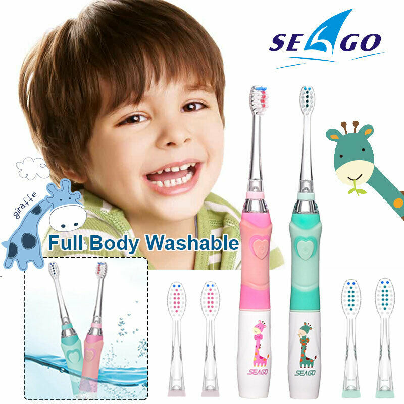 Seago Sonic Vibration Electric Toothbrush For Kids With Colo
