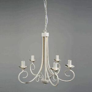 ebay lampadari antichi : Dettagli su LAMPADARIO ANTICO BIANCO CON 5 LUCI ART.B4 FERRO BATTUTO ...
