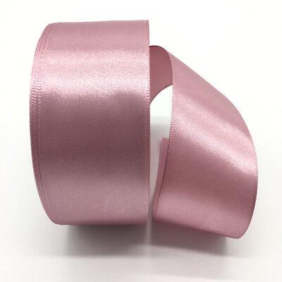 5yds 38mm Silk Satin Ribbon DIY Bow Wedding Party Christmas Ribbon Pale Mauve