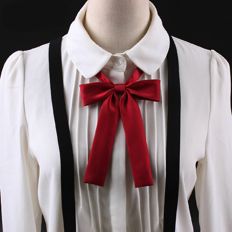 Lady Satin Silk-like Adjustable Ribbon Bows Bowknot Bow Tie Necklace Choker Cute