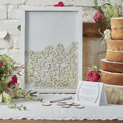 Ginger Ray Drop Top Wooden Frame Alternative Wedding Guest Book