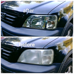 Headlights cleaning !