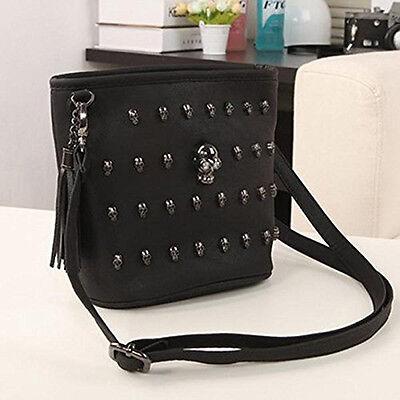 Black Fashion Wallet Clutch - Women Fashion Punk Skull Clutch Long Zipper Purse PU Leather Bag Wallet Black