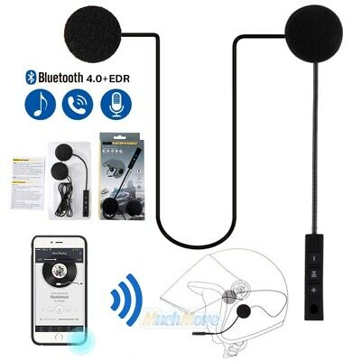 Motorcycle Helmet Headset Speakers Mic Bluetooth Handsfree Call Control Intercom ()