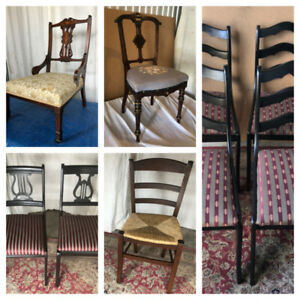 Antique/Vintage Chairs, Restored/Refinished, Solid Wood