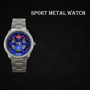 New Custom Volk Rays Rim Blue Wristwatch Sport Metal Watch Gift Unisex