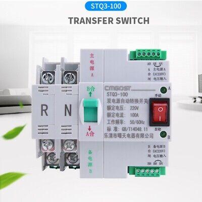 Mini 30 Ms Dual Power Automatic Transfer Switch 2p 100a 220v Generator Pv