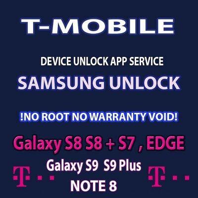 T-MOBILE  SIM UNLOCK APP CODE SERVICE SAMSUNG GALAXY S9 + NOTE 8 S8 PLUS S7  for sale  Fort Lauderdale