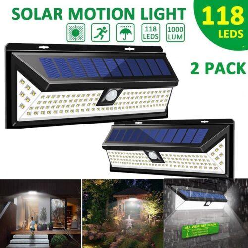 Waterproof 80LED Solar Power PIR Motion Sensor Wall Light Garden Lamp Outdoor GA