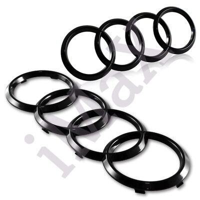 For Audi Rings 2PCS Black FrontRear A3 A4 S4 A5 S5 A6 S6 SQ7 TT Badge Emblem