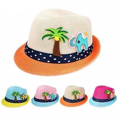 Summer Baby Hat Children Cap For Girls Boys Kids Toddler Sun Beach Straw Brim