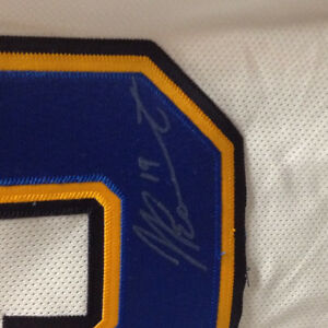 Autographed Jay Bouwmeester jersey