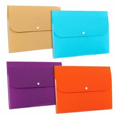 4-pack Expanding File Folders Accordion File Folder Organizers 5-pocket A4 Size